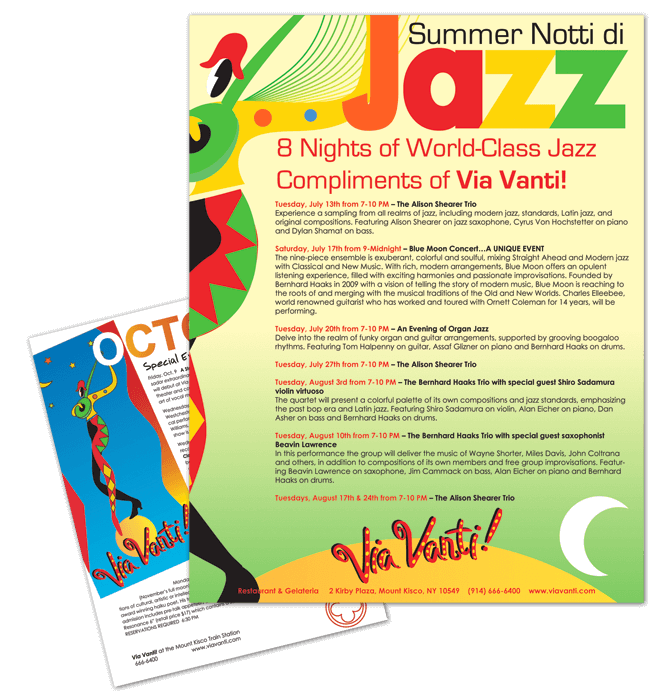 Flyer and card