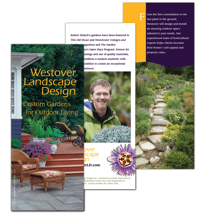 Landscape design tri-fold brochure (cover)