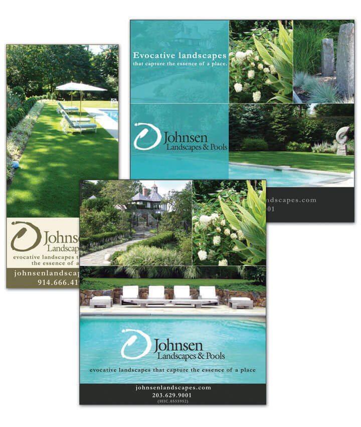 Print ads for Johnsen Landscapes & Pools
