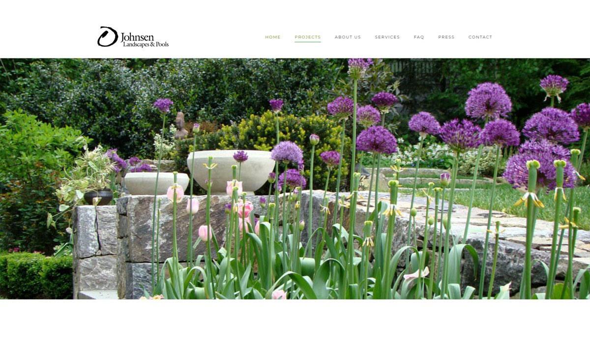 Johnsen Landscapes & Pools website