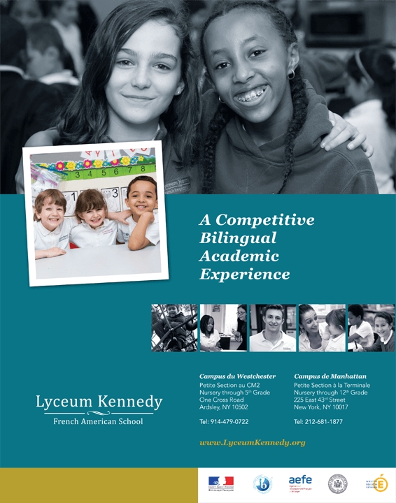 Print ad for Lyceum Kennedy French American School