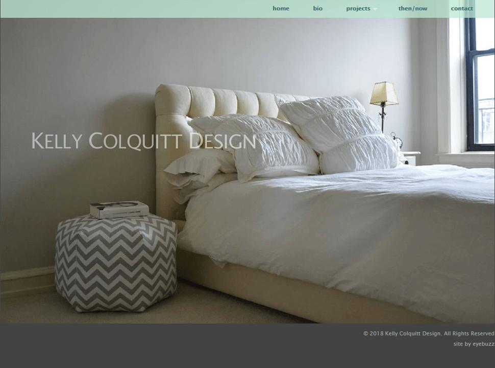 Interior Design website design by Eyebuzz