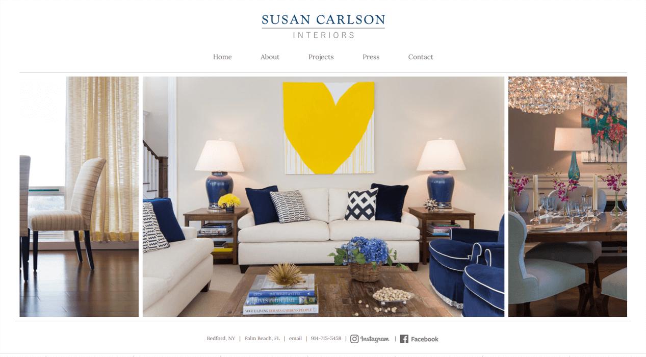 Susan Carlson Interiors website
