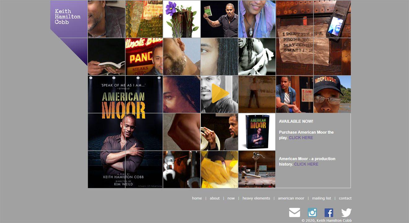 American actor Keith Hamilton Cobb website