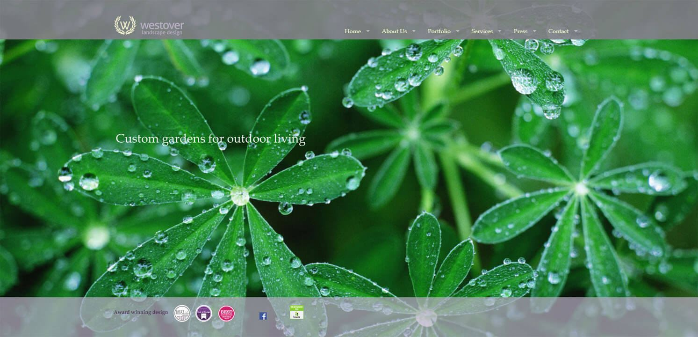 Landscape design company website
